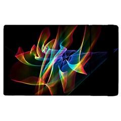 Aurora Ribbons, Abstract Rainbow Veils  Apple Ipad 2 Flip Case by DianeClancy
