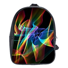 Aurora Ribbons, Abstract Rainbow Veils  School Bag (xl) by DianeClancy