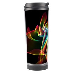 Aurora Ribbons, Abstract Rainbow Veils  Travel Tumbler by DianeClancy