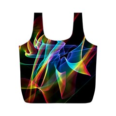 Aurora Ribbons, Abstract Rainbow Veils  Reusable Bag (m) by DianeClancy
