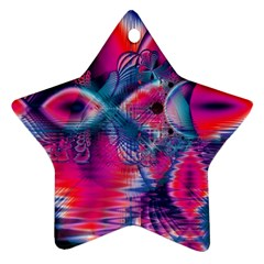 Cosmic Heart Of Fire, Abstract Crystal Palace Star Ornament by DianeClancy
