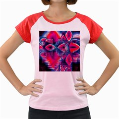 Cosmic Heart Of Fire, Abstract Crystal Palace Women s Cap Sleeve T Shirt (colored) by DianeClancy