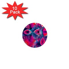 Cosmic Heart Of Fire, Abstract Crystal Palace 1  Mini Button Magnet (10 Pack) by DianeClancy