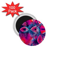 Cosmic Heart Of Fire, Abstract Crystal Palace 1 75  Button Magnet (100 Pack) by DianeClancy