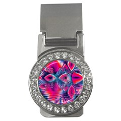 Cosmic Heart Of Fire, Abstract Crystal Palace Money Clip (cz) by DianeClancy