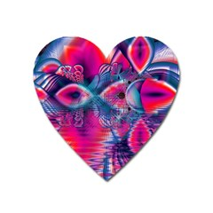 Cosmic Heart Of Fire, Abstract Crystal Palace Magnet (heart) by DianeClancy