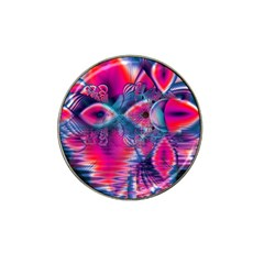 Cosmic Heart Of Fire, Abstract Crystal Palace Golf Ball Marker 4 Pack (for Hat Clip) by DianeClancy