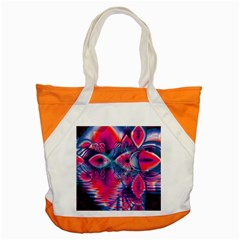 Cosmic Heart Of Fire, Abstract Crystal Palace Accent Tote Bag by DianeClancy