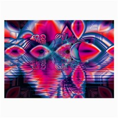 Cosmic Heart Of Fire, Abstract Crystal Palace Glasses Cloth (large, Two Sided) by DianeClancy