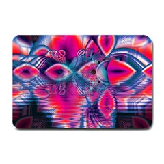 Cosmic Heart Of Fire, Abstract Crystal Palace Small Door Mat by DianeClancy
