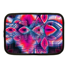 Cosmic Heart Of Fire, Abstract Crystal Palace Netbook Sleeve (medium) by DianeClancy