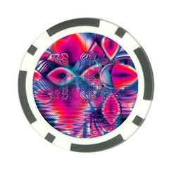 Cosmic Heart Of Fire, Abstract Crystal Palace Poker Chip (10 Pack) by DianeClancy