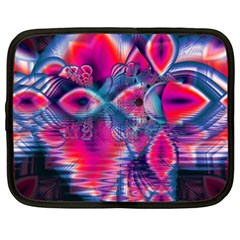 Cosmic Heart Of Fire, Abstract Crystal Palace Netbook Sleeve (xxl) by DianeClancy