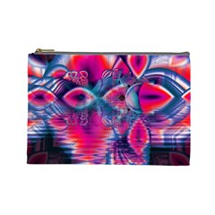 Cosmic Heart Of Fire, Abstract Crystal Palace Cosmetic Bag (large) by DianeClancy