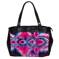 Cosmic Heart Of Fire, Abstract Crystal Palace Oversize Office Handbag (two Sides) by DianeClancy