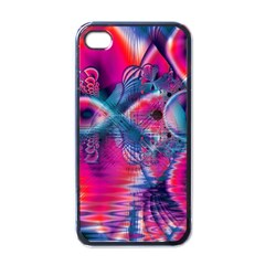 Cosmic Heart Of Fire, Abstract Crystal Palace Apple Iphone 4 Case (black) by DianeClancy