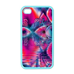 Cosmic Heart Of Fire, Abstract Crystal Palace Apple Iphone 4 Case (color) by DianeClancy