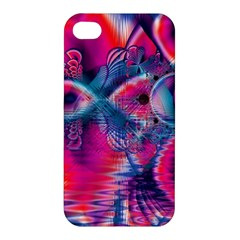 Cosmic Heart Of Fire, Abstract Crystal Palace Apple Iphone 4/4s Premium Hardshell Case by DianeClancy