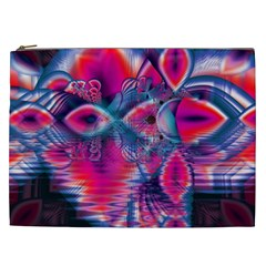 Cosmic Heart Of Fire, Abstract Crystal Palace Cosmetic Bag (xxl) by DianeClancy