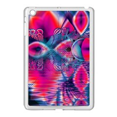 Cosmic Heart Of Fire, Abstract Crystal Palace Apple Ipad Mini Case (white) by DianeClancy
