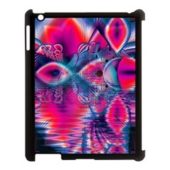 Cosmic Heart Of Fire, Abstract Crystal Palace Apple Ipad 3/4 Case (black) by DianeClancy