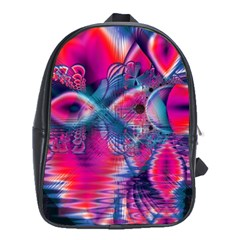 Cosmic Heart Of Fire, Abstract Crystal Palace School Bag (xl) by DianeClancy