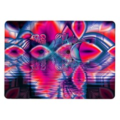 Cosmic Heart Of Fire, Abstract Crystal Palace Samsung Galaxy Tab 10 1  P7500 Flip Case by DianeClancy