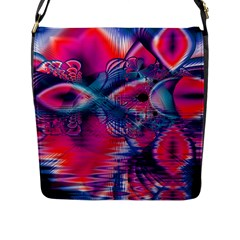 Cosmic Heart Of Fire, Abstract Crystal Palace Flap Closure Messenger Bag (large) by DianeClancy