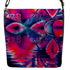 Cosmic Heart Of Fire, Abstract Crystal Palace Flap Closure Messenger Bag (small) by DianeClancy