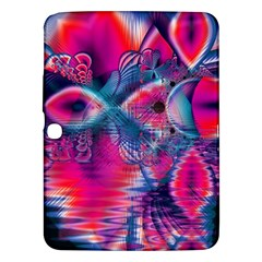 Cosmic Heart Of Fire, Abstract Crystal Palace Samsung Galaxy Tab 3 (10 1 ) P5200 Hardshell Case  by DianeClancy