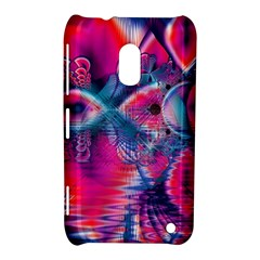 Cosmic Heart Of Fire, Abstract Crystal Palace Nokia Lumia 620 Hardshell Case by DianeClancy