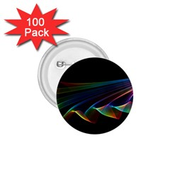 Flowing Fabric Of Rainbow Light, Abstract  1 75  Button (100 Pack) by DianeClancy