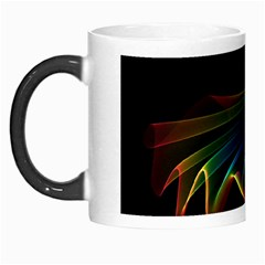 Flowing Fabric Of Rainbow Light, Abstract  Morph Mug by DianeClancy