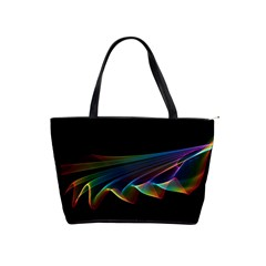 Flowing Fabric Of Rainbow Light, Abstract  Large Shoulder Bag by DianeClancy