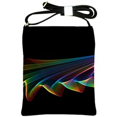 Flowing Fabric Of Rainbow Light, Abstract  Shoulder Sling Bag by DianeClancy