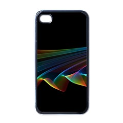 Flowing Fabric Of Rainbow Light, Abstract  Apple Iphone 4 Case (black) by DianeClancy