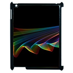 Flowing Fabric Of Rainbow Light, Abstract  Apple Ipad 2 Case (black) by DianeClancy