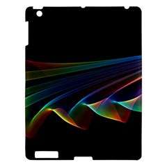 Flowing Fabric Of Rainbow Light, Abstract  Apple Ipad 3/4 Hardshell Case by DianeClancy