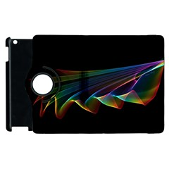 Flowing Fabric Of Rainbow Light, Abstract  Apple Ipad 2 Flip 360 Case by DianeClancy