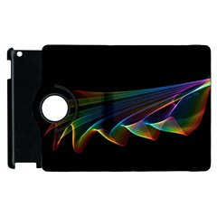 Flowing Fabric Of Rainbow Light, Abstract  Apple Ipad 3/4 Flip 360 Case by DianeClancy