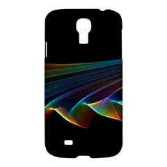 Flowing Fabric Of Rainbow Light, Abstract  Samsung Galaxy S4 I9500/i9505 Hardshell Case by DianeClancy