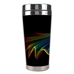 Flowing Fabric Of Rainbow Light, Abstract  Stainless Steel Travel Tumbler
