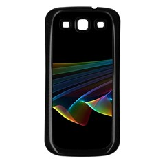 Flowing Fabric Of Rainbow Light, Abstract  Samsung Galaxy S3 Back Case (black) by DianeClancy