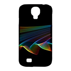 Flowing Fabric Of Rainbow Light, Abstract  Samsung Galaxy S4 Classic Hardshell Case (pc+silicone) by DianeClancy
