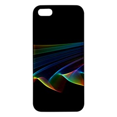 Flowing Fabric Of Rainbow Light, Abstract  Iphone 5s Premium Hardshell Case by DianeClancy