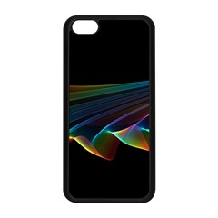 Flowing Fabric Of Rainbow Light, Abstract  Apple Iphone 5c Seamless Case (black) by DianeClancy