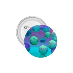 Ocean Dreams, Abstract Aqua Violet Ocean Fantasy 1 75  Button by DianeClancy
