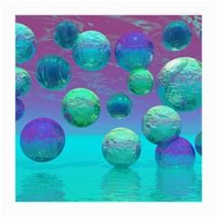 Ocean Dreams, Abstract Aqua Violet Ocean Fantasy Glasses Cloth (medium) by DianeClancy