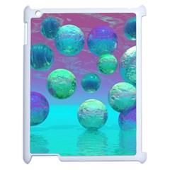 Ocean Dreams, Abstract Aqua Violet Ocean Fantasy Apple Ipad 2 Case (white) by DianeClancy