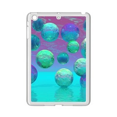 Ocean Dreams, Abstract Aqua Violet Ocean Fantasy Apple Ipad Mini 2 Case (white) by DianeClancy
